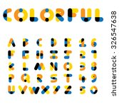 colorful vector alphabets and... | Shutterstock .eps vector #326547638