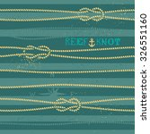 vintage nautical knot seamless... | Shutterstock .eps vector #326551160