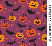 halloween seamless patterns... | Shutterstock .eps vector #326551856