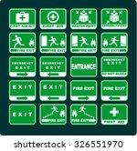 fire  exit | Shutterstock .eps vector #326551970