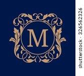 elegant monogram design...   Shutterstock .eps vector #326562326