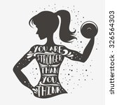 fitness typographic poster. you ... | Shutterstock .eps vector #326564303