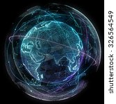 digital design of a global... | Shutterstock . vector #326564549