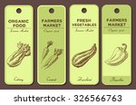 hand drawn labels set with... | Shutterstock .eps vector #326566763
