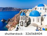 view of oia village  santorini  ... | Shutterstock . vector #326568404