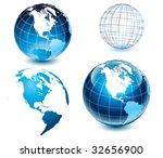 american side of the world globe | Shutterstock .eps vector #32656900