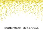 yellow confetti and ribbons on... | Shutterstock .eps vector #326570966