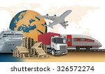 transport with earth on... | Shutterstock . vector #326572274
