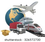 transport with earth on... | Shutterstock . vector #326572730