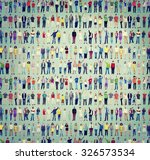 multiethnic casual people... | Shutterstock . vector #326573534