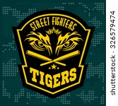 fighting club emblem   tiger... | Shutterstock .eps vector #326579474