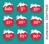 collection of winter sale... | Shutterstock .eps vector #326579630