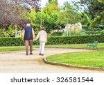 Elderly People Walking In The...