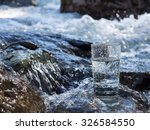natural water in a glass | Shutterstock . vector #326584550