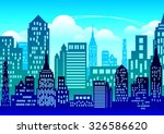 city vector background | Shutterstock .eps vector #326586620