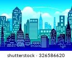 city vector background | Shutterstock .eps vector #326586620