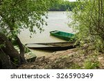 old rowing fishing boats are... | Shutterstock . vector #326590349