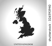 map of united kingdom | Shutterstock .eps vector #326593940