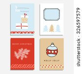 set of christmas greeting ... | Shutterstock .eps vector #326597579