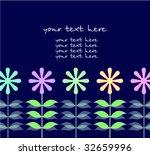 vector floral card | Shutterstock .eps vector #32659996