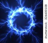 lightning vector round text... | Shutterstock .eps vector #326600108