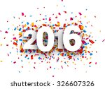 happy 2016 new year with colour ... | Shutterstock .eps vector #326607326