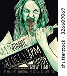 zombie party flyer with... | Shutterstock .eps vector #326609069