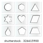 template for simple geometric... | Shutterstock .eps vector #326615900