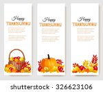 three happy thanksgiving... | Shutterstock .eps vector #326623106