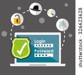 digital fraud and hacking... | Shutterstock .eps vector #326623628