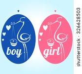 it's a girl and boy text heart... | Shutterstock .eps vector #326628503