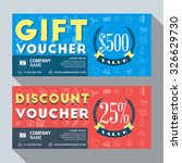 gift and discount voucher... | Shutterstock .eps vector #326629730