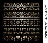 vintage gold borders  vector... | Shutterstock .eps vector #326630999