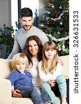 portrait of happy family... | Shutterstock . vector #326631533