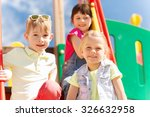 summer  childhood  leisure ... | Shutterstock . vector #326632958