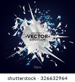 abstract explosion with... | Shutterstock .eps vector #326632964