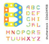 colorful latin alphabet made of ... | Shutterstock .eps vector #326634908