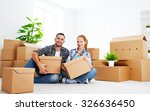 moving to a new apartment.... | Shutterstock . vector #326636450