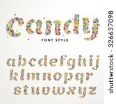 vector font style made of... | Shutterstock .eps vector #326637098