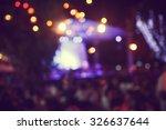 de focused live concert...   Shutterstock . vector #326637644