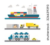 logistic transportation... | Shutterstock .eps vector #326639393