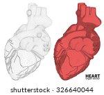 3d heart wireframe mesh... | Shutterstock .eps vector #326640044