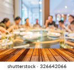 wood table and chinese... | Shutterstock . vector #326642066