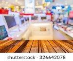 wood floor and blur image of...   Shutterstock . vector #326642078
