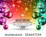 2016 christmas and happy new... | Shutterstock .eps vector #326647154