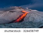 volcano etna eruption   lava... | Shutterstock . vector #326658749