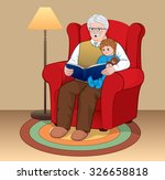 grandfather with grandson... | Shutterstock .eps vector #326658818