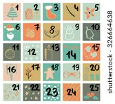 painted in ink advent calendar. ...   Shutterstock .eps vector #326664638