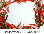 Chilli In Form Of Picture Frame