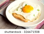 Fried Egg On Bread For...